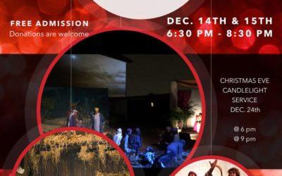 2018 Living Nativity December 14 & 15 – 6:30 – 8:30 pm