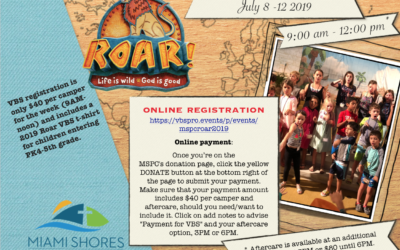 Vacation Bible School 2019 coming July 8-12